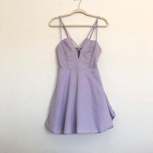 TOBI Lavender Strappy A Line Mini Dress Size Large